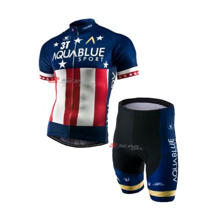 READY STOCK 3T AQUA BLUE Cycling Jersey - JA888