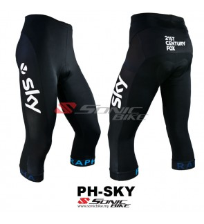 READY STOCK [ FREE RETURN ] High Quality Gel Pad 3/4 Cycling Pant - PH-SKY