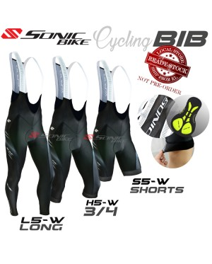 READY STOCK SONIC PREMIUM Cycling Bib SHORT 3/4 LONG -5W BIB