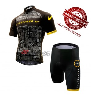 READY STOCK Livestrong Cycling Jersey & Shorts - JL133