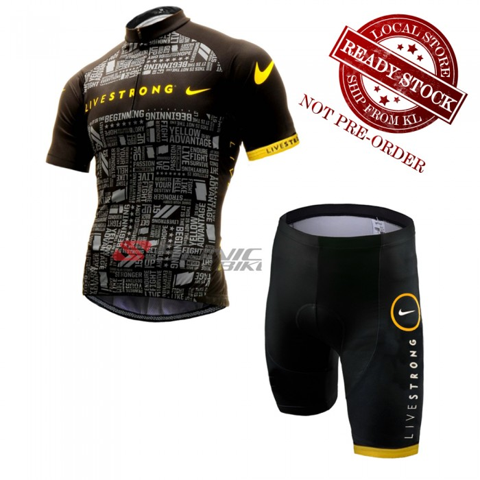 READY STOCK Livestrong Cycling Jersey   Shorts - JL133 1aee62ad0