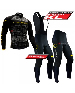 READY STOCK [ FREE RETURN ] Live Strong  Cycling Jersey Long Sleeve - JL933