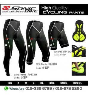 READY STOCK   FREE RETURN   Sonicbike PREMIUM Cycling Pant 3 4 Long Pant - 4cdf8d603