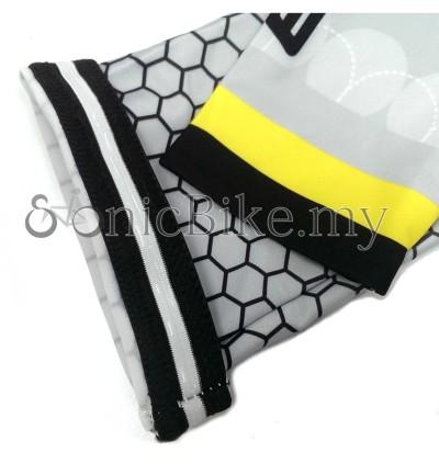 SONIC DESIGN Cycling Arm Warmer Arm Sleeve Sun Block Yellow - AS-Y