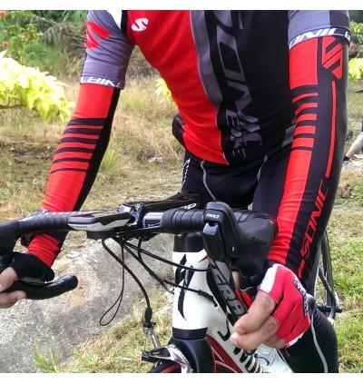 SONIC DESIGN Cycling Arm Warmer Arm Sleeve Sun Block RED - AS-R