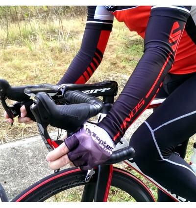 SONIC DESIGN Cycling Arm Warmer Arm Sleeve Sun Block Green - AS-N