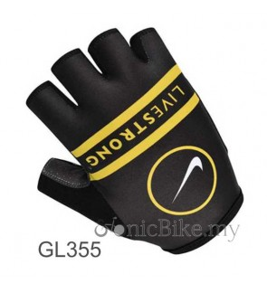 Livestrong Team Design Cycling / Fitness Half Finger Padded Glove - GL355