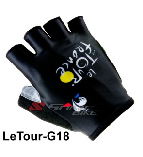 LE TOUR Team Design Cycling / Fitness Half Finger Padded Glove - LETO18