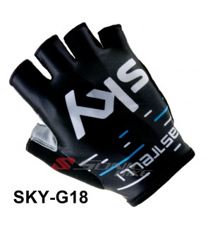 SKY Team Design Cycling / Fitness Half Finger Padded Glove - SKY18