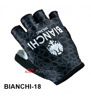 BIANCHI Team Design Cycling / Fitness Half Finger Padded Glove - BIANCHI18