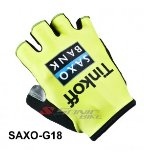 TINKOFF Team Design Cycling / Fitness Half Finger Padded Glove - TINKOFF18