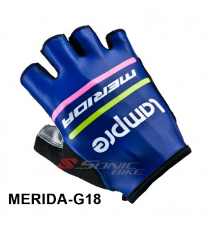 LAMPRE Team Design Cycling / Fitness Half Finger Padded Glove - LAMPRE18
