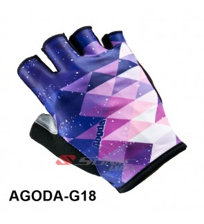 GPURPLE Team Design Cycling / Fitness Half Finger Padded Glove - GPURPLE18