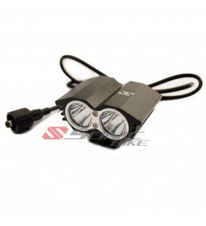 Bicycle Front Light Powerful L2 LED Double Cree with Battery 8800/ 20000mAh- L2