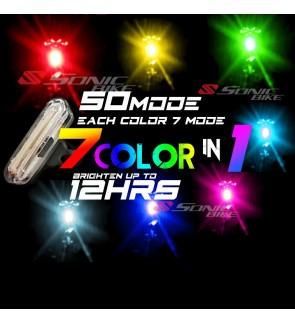 READY STOCK 7 COLORS IN 1 LED Tail Light Blinker  50 MODES / 7 COLOR LED