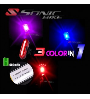 READY STOCK 3 Color IN 1 Bicycle LED Blinker / Tail Light  - 3 COLOR LED