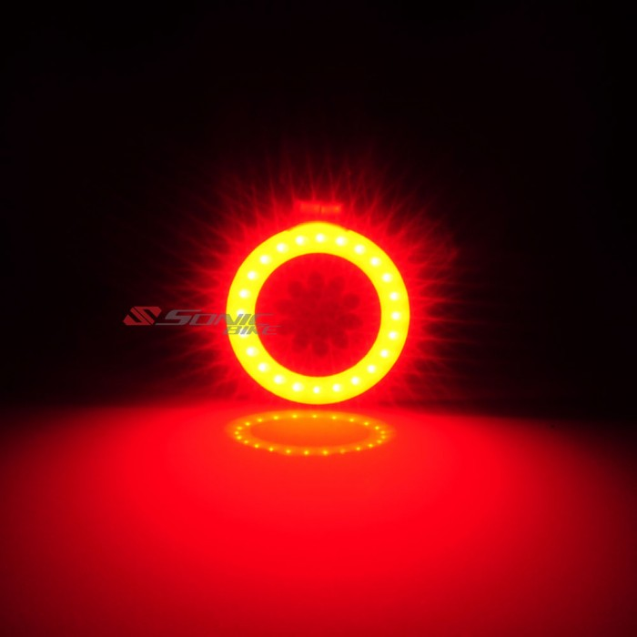 RING LED Bicycle Blinker / Rear Light - Brighten up to 24