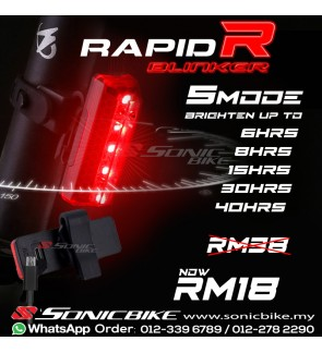Bicycle LED Rear Lights / Tail Light / Blinkers - Rapid R