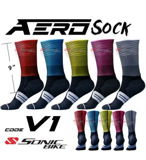 READY STOCK Aero Lycra Cycling Sock / Lycra Sock  / V1
