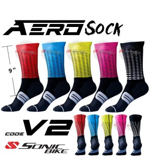 READY STOCK Aero Lycra Cycling Sock / Lycra Sock  / V2