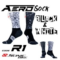 READY STOCK Aero Lycra Cycling Sock / Lycra Sock  / R1
