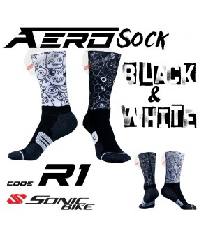 READY STOCK Aero Lycra Cycling Sock / Lycra Sock  / R1